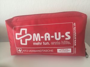Verbandtasche M-a-u-s erste Hilfe tag