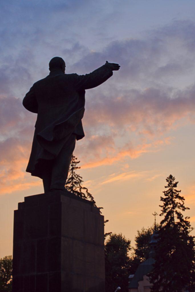 Lenindenkmale in Russland Irkutsk