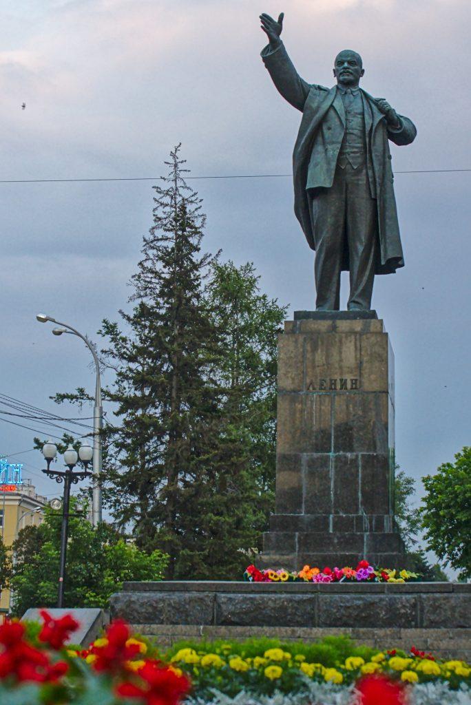 Lenindenkmale Russland Irkutsk
