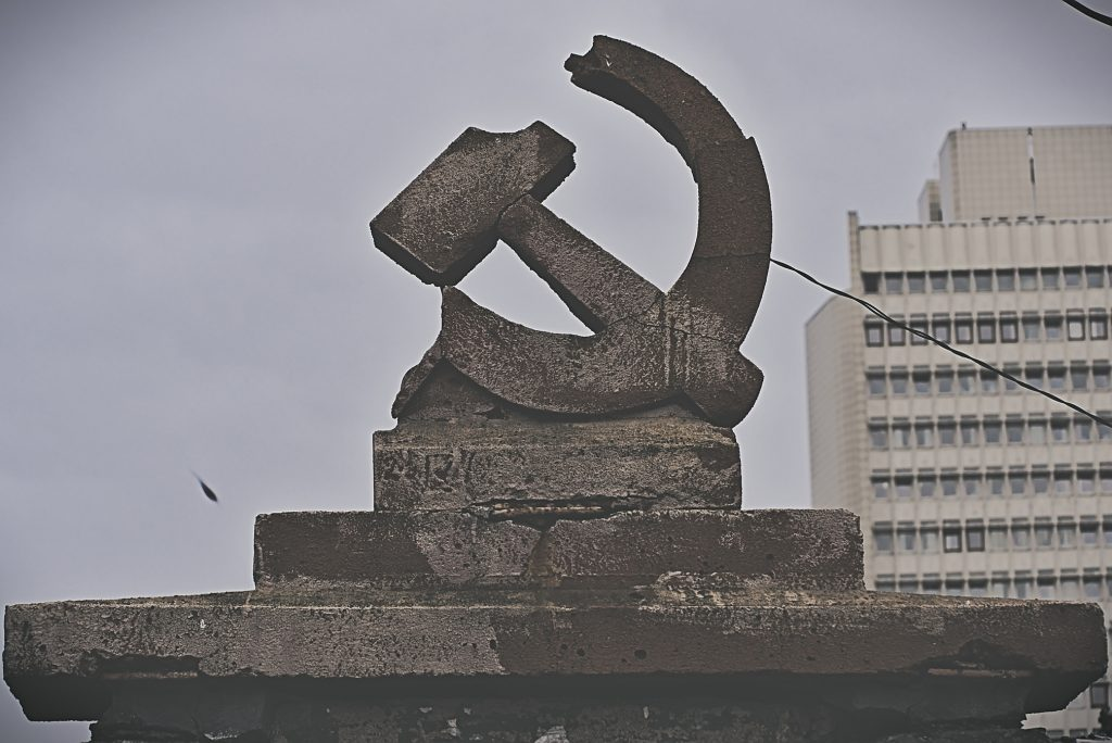 Hammer Sichel Denkmal Russland