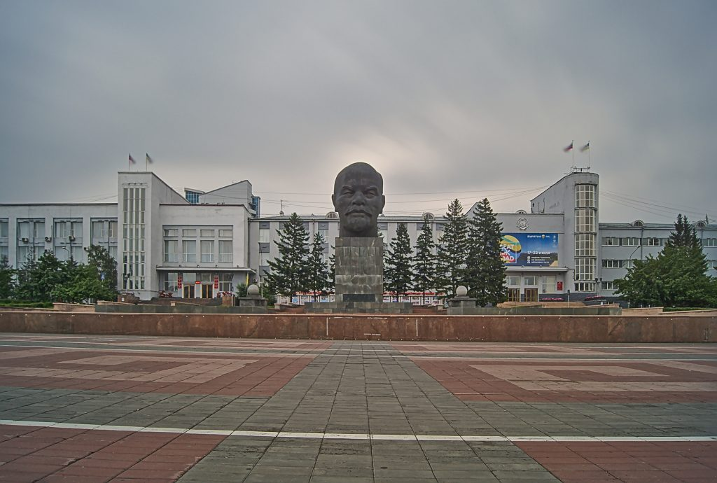 Lenin KOpf in Ulan Ude Russland