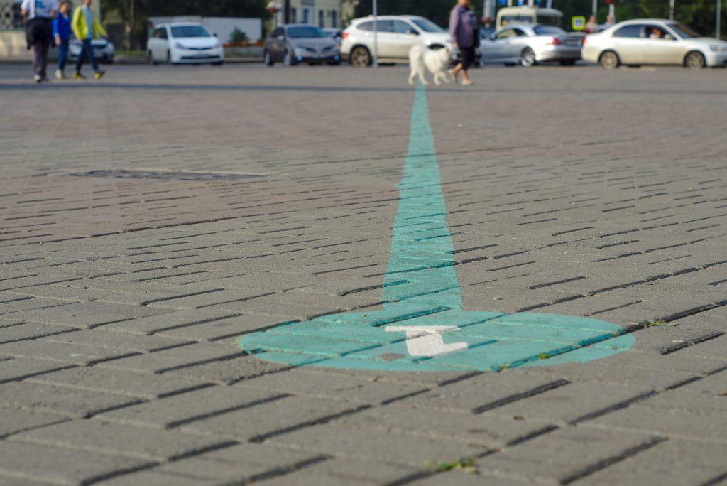 Diese grüne Linie führt an vielen Sehenswürdigkeiten in Irkutsk vorbei