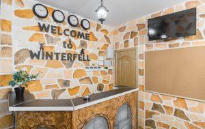 Winterfell Hostel Eingang