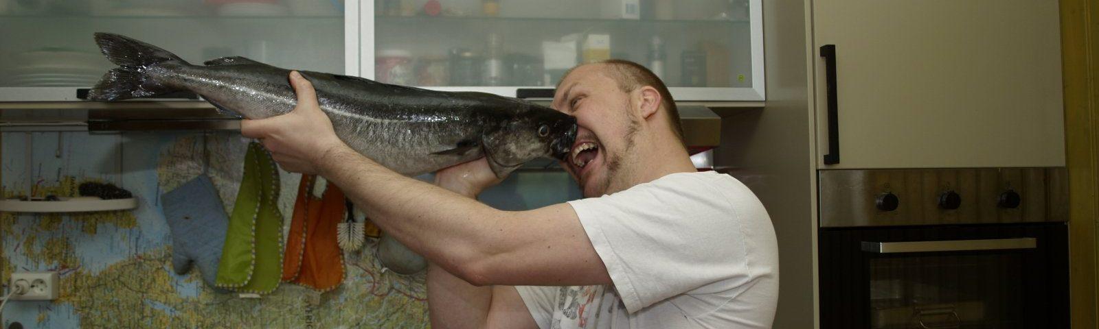 Nico mit Fisch im Gesicht murtaugh liste