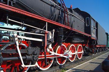 Dampflok an transsibirische Eisenbahn
