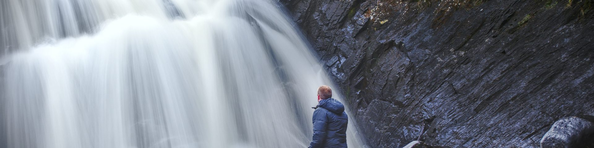 Langzeitbelichtung wasserfall storfossen norwegen