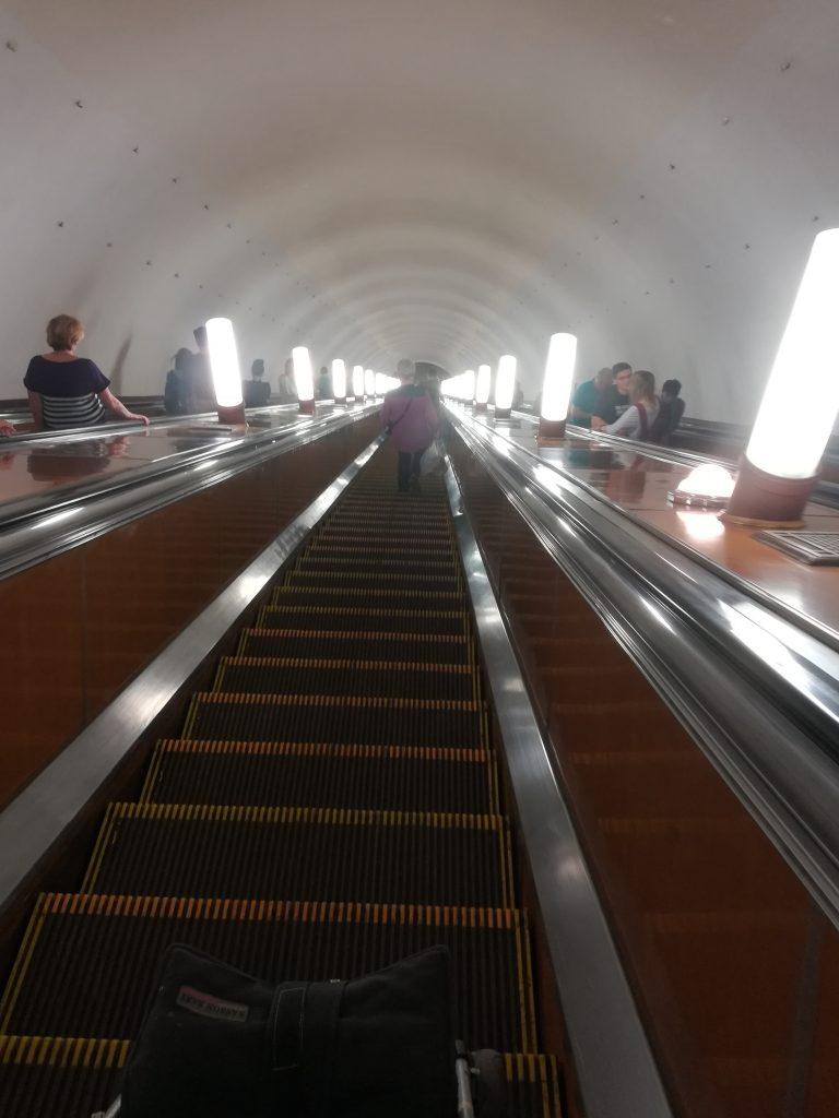 Metro Rolltreppe in Moskau Reisehighlights 2018