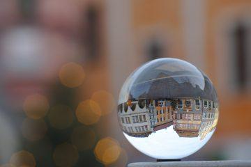 Görlitzer altstadt fotografiert in durch die Glaskugel
