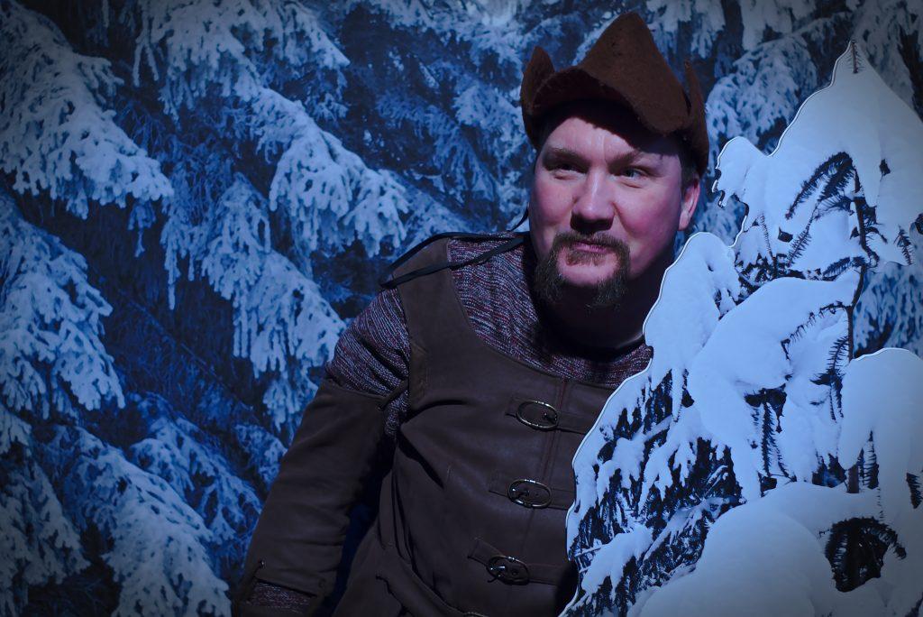 Mann alsJäger Schloss Moritzburg Drei Haselnüsse für aschenbrödel Ausstellung