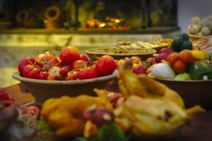 nachgestelltes Essen Drei Haselnüsse für aschenbrödel ausstellung
