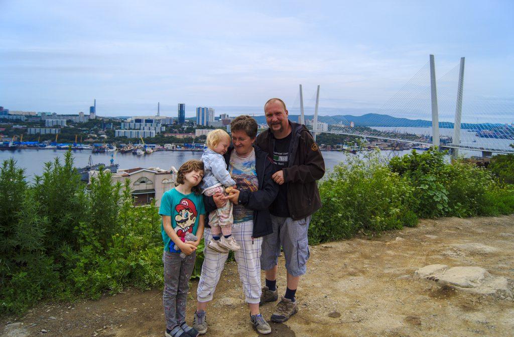 Familie in Wladiwostok Russland