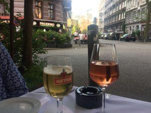 Hamburg Bier mit stadtaussicht meine lieblingsstadt im norden