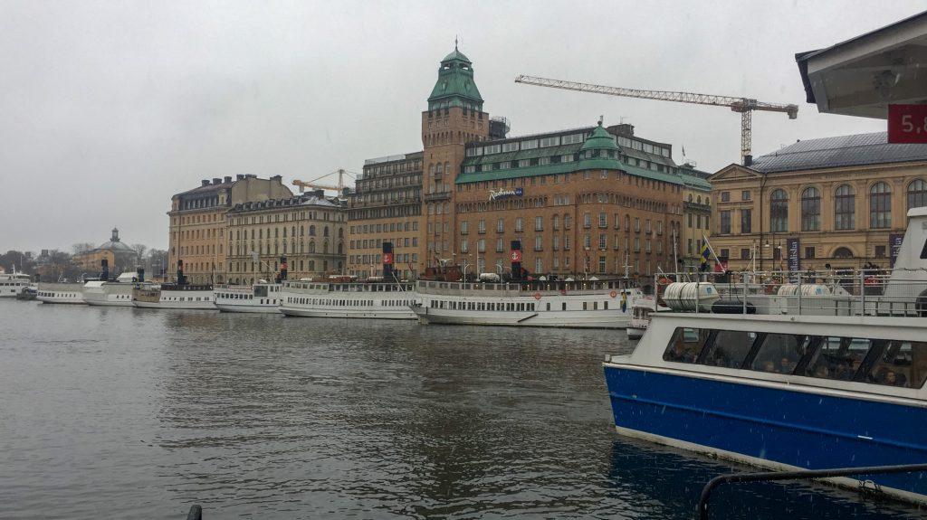 Stockholm gesehen vom Wassser