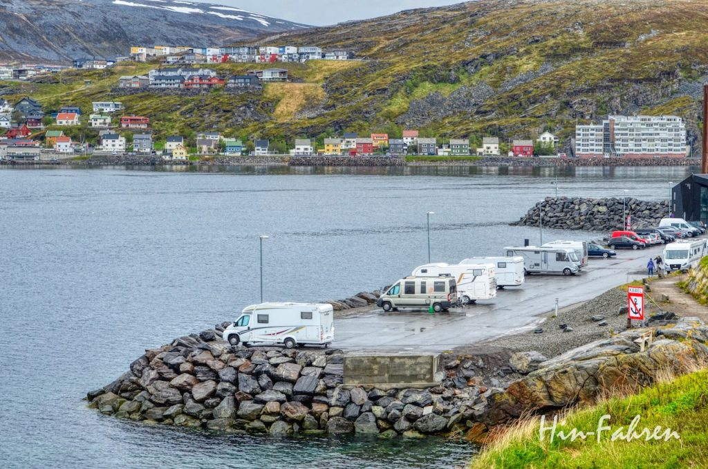 Hammerfest Wohnmobilstellplatz am Wasser