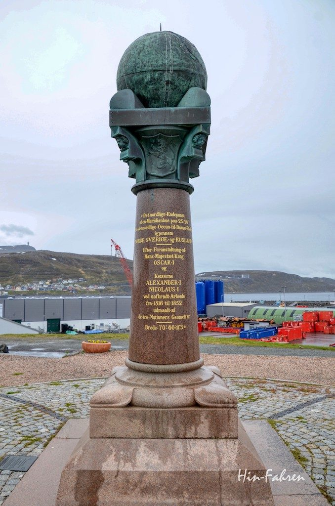 Meridianmonument hammerfest Norwegen