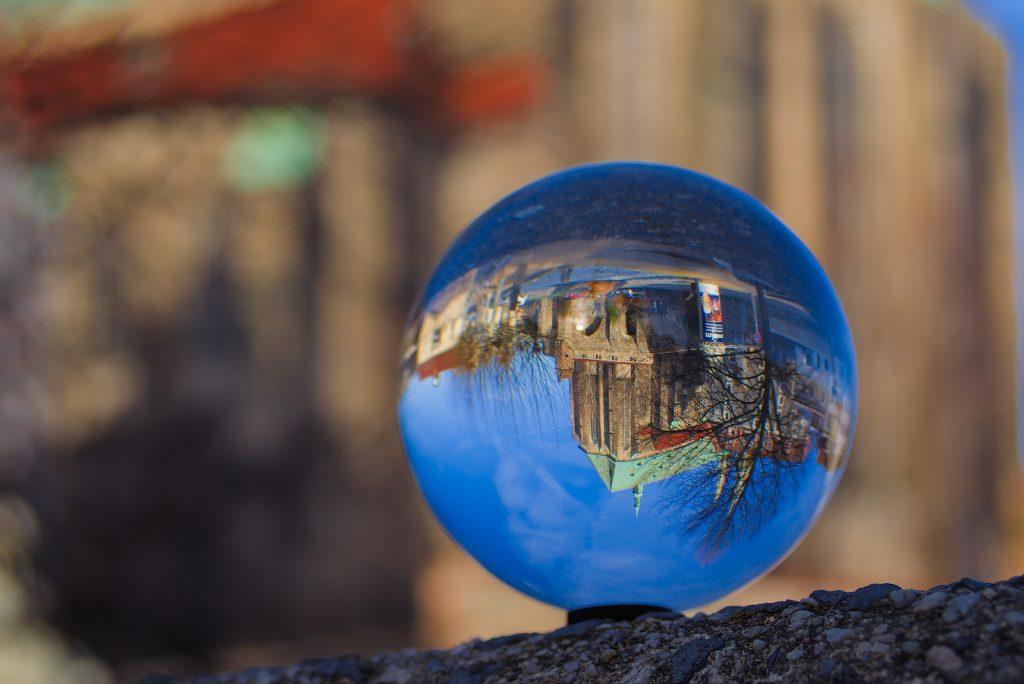 Glaskugelfotografie Peterskirche Görlitz Sachsen Europawahlen 2019