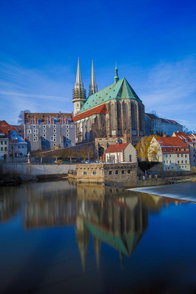 zurück in Deutschland Görlitz Peterskirche gesehen von der polnischen Seite