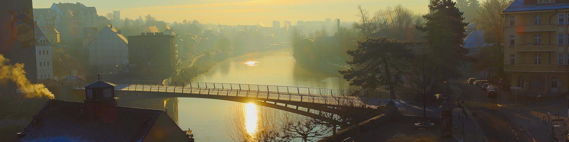 Altstadtbrück Görlitz Unterschiede zwischen Norwegen und Deutschland Sonnenaufgang