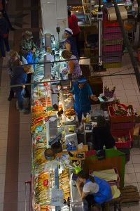 Markthalle von oben Ulan-Ude Russland Lieblingsmärkte