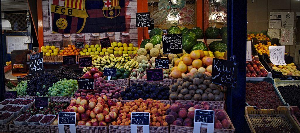 Obst Markthalle Budapest Ungarn Obst Lieblingsmärkte