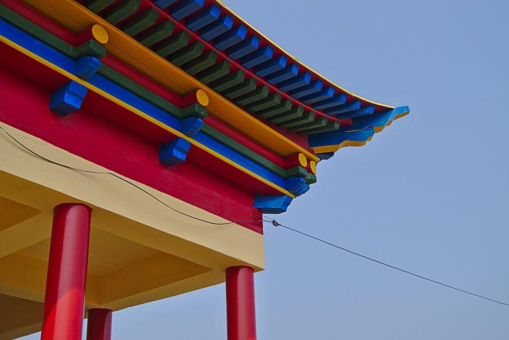 Teil eines buddhistischen Tempels in Ulan-Ude