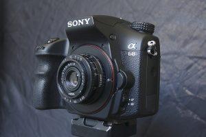Industar 50-2 an meiner Kamera