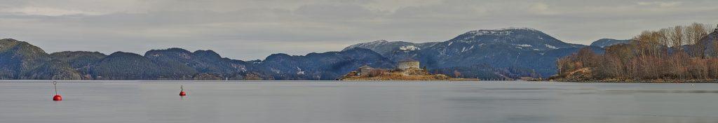 trondelag panorama Blick auf steinvikholm Fettnäpfchen in norwegen