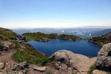 Ausssicht vom Ulriken BErgen Norwegen