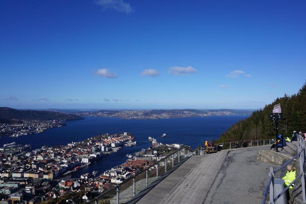 Blick vom Fløyen BErgen Lieblingsstadt im Norden