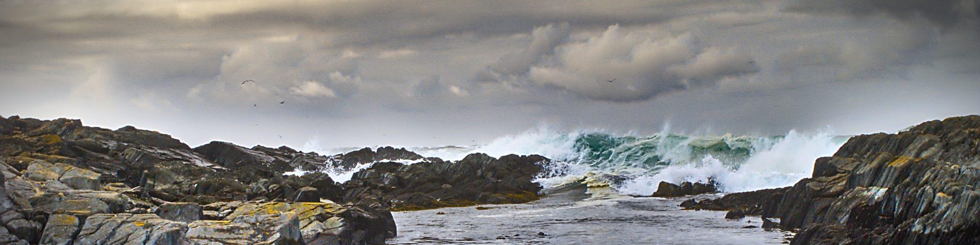 Schlechtwetter Fotografie Berlevåg Norwegen Strand bei Sturm