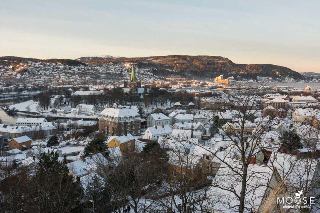Ausblick über Trondheim