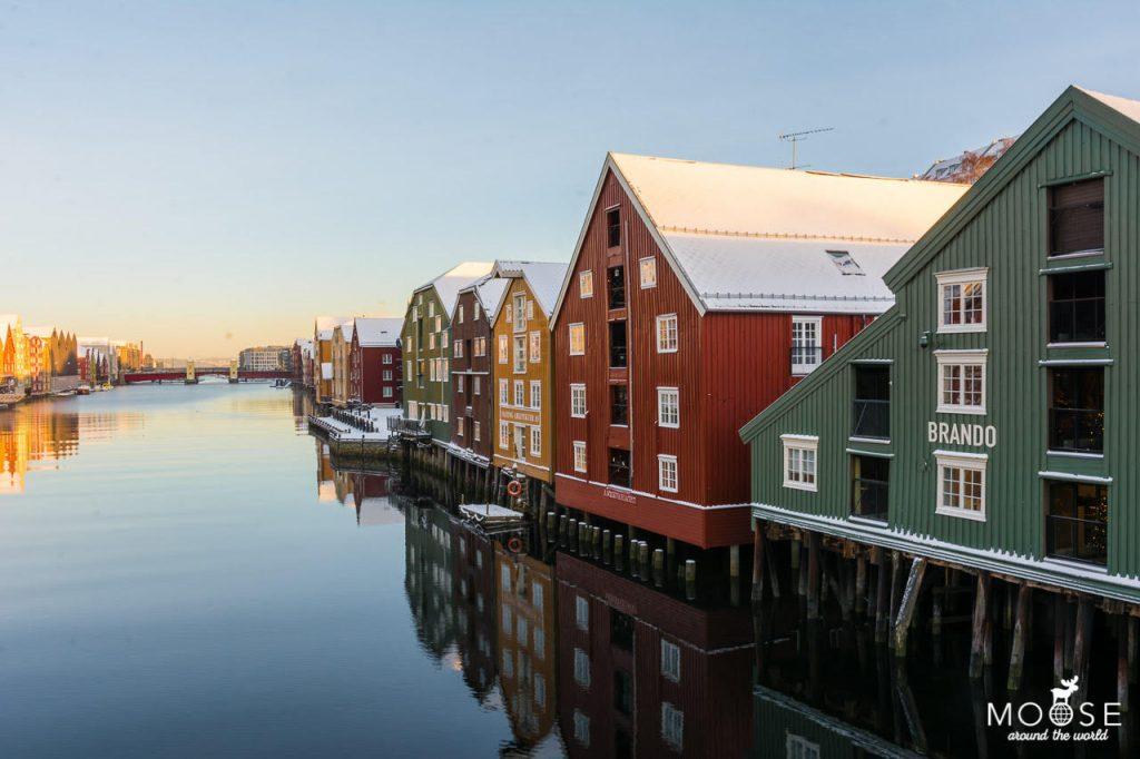 Häuser Trondheim nidelv