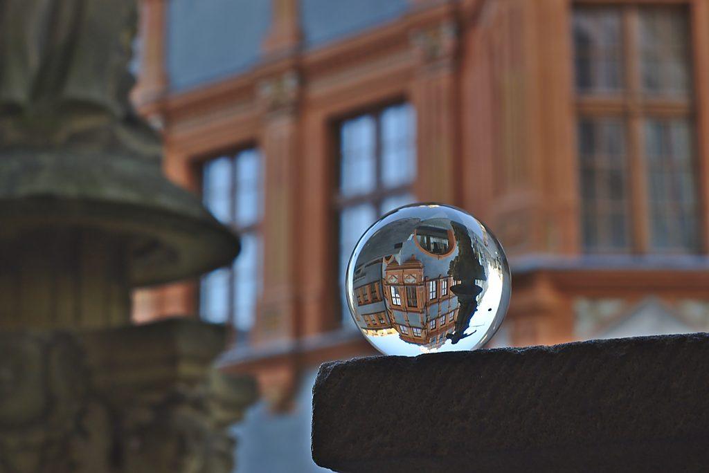 Glaskugel Fotografie Haus in der kugel