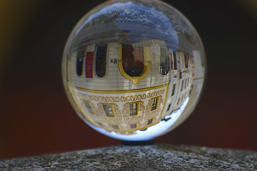 Glaskugel Fotografie Haus in Görlitz