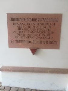 Mahntafel Schloss Colditz