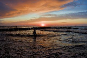 Ustronie Morskie Ostsee Polen Interrail durch Polen Sonnenuntergang Ostsee
