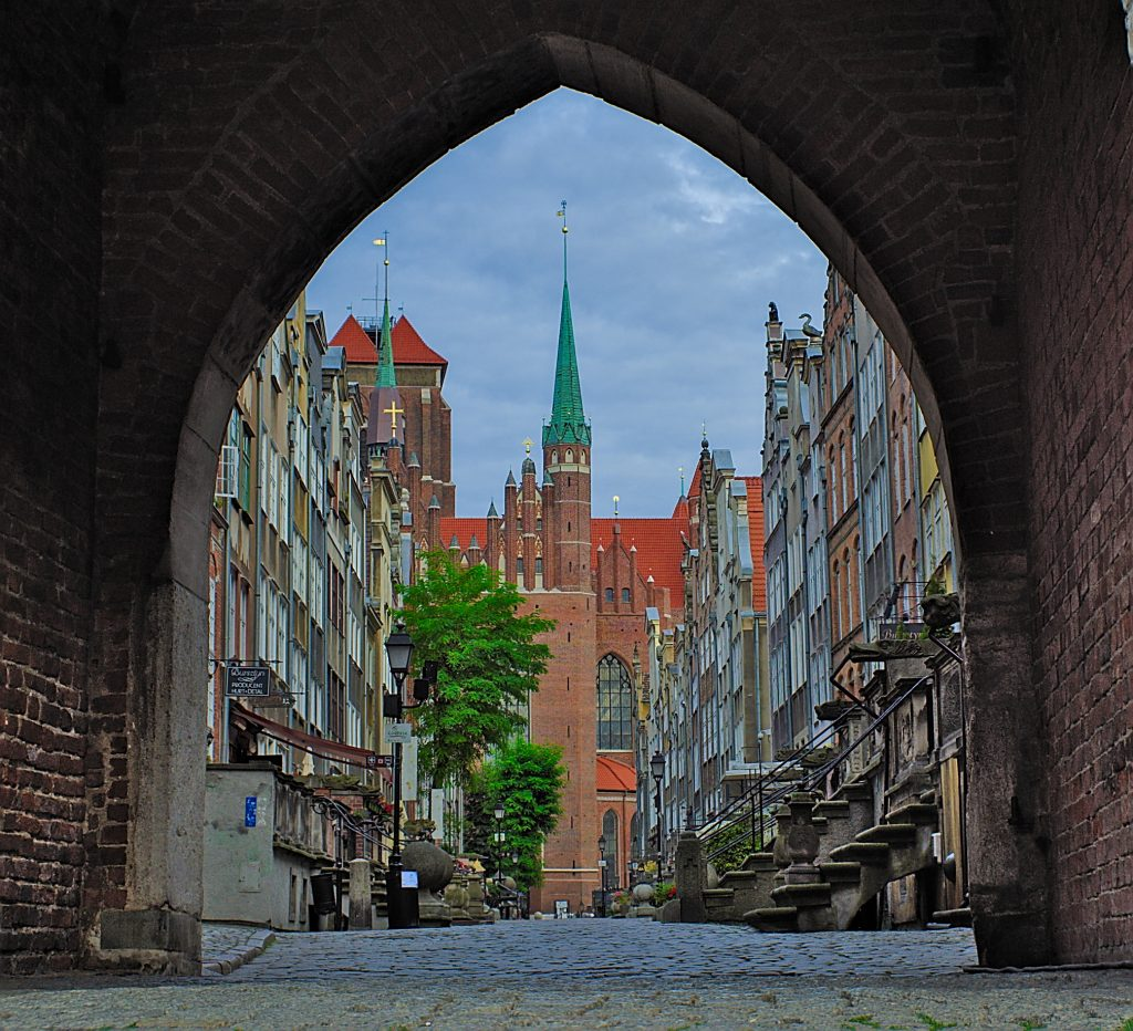 Markt Gdansk Interrail durch Polen