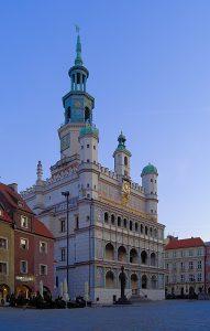 Rathaus in Poznan Interrail durch Polen