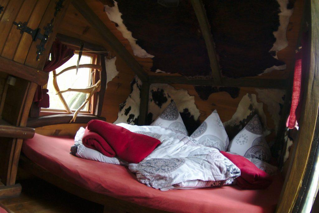 Schlafbereich Judkas Baumhaus BH Hotel