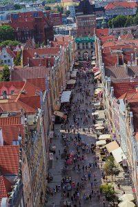 Blick auf vom Rechstädtischen Rathaus Rathaus Gdansk