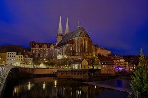 Ein Jahr Görlitz Peterskirche bei Nacht