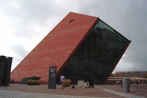 Museum des 2.Weltkriegs in Gdansk, Danzig Polen, Gebäude von aussen