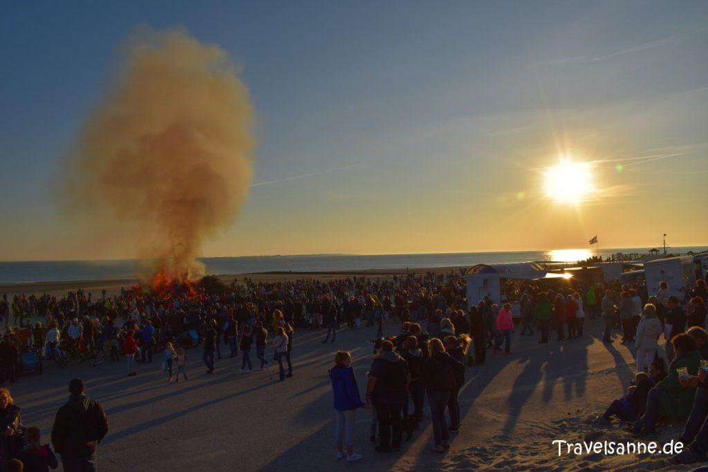 Lieblingsorte für Familien Norderney Osterfeuer