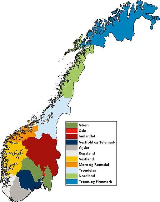 Norwegen kommunereform 2020 neue Provinzen