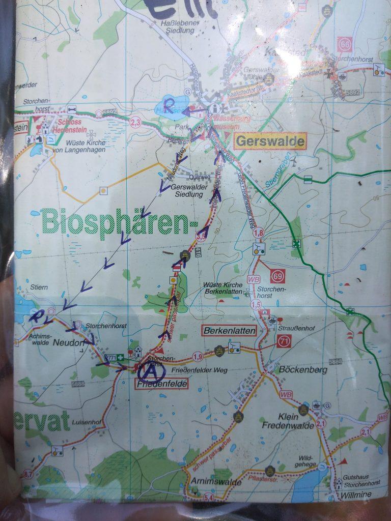 Planwagen, Karte Uckermark