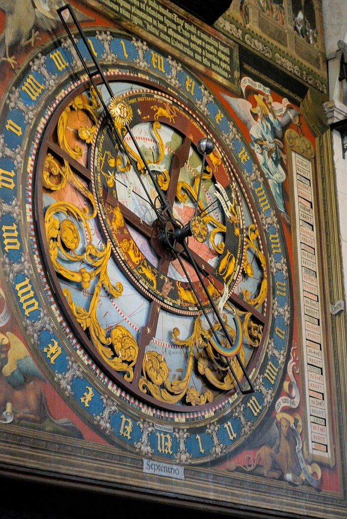 Zifferblatt astronomische Uhr Münster