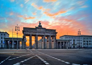 Brandenburger Tor im Sonnenaufgang Berlin Deutschland, Fotoparade 2020