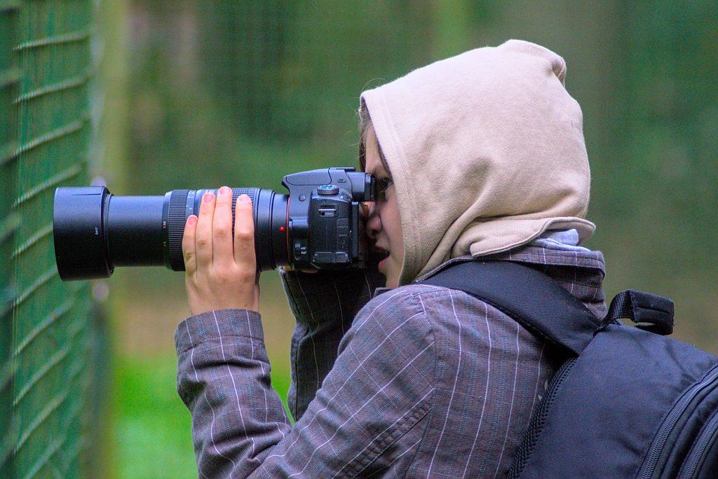 Kind beim Fotografieren, Fotoparade 2020